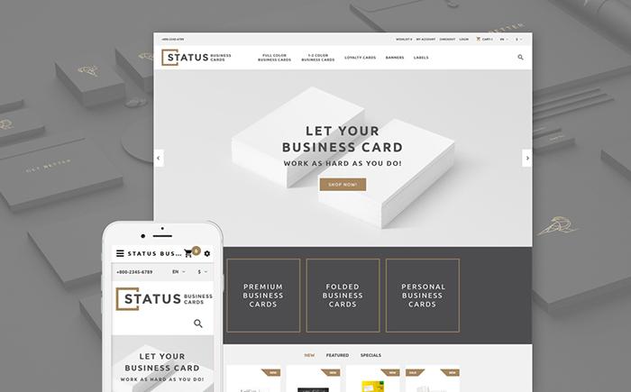 Status OpenCart Template