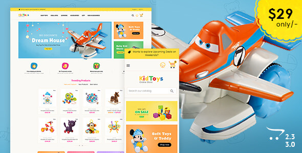 Kid Toys - Opencart 3 Multi-Purpose Responsive Theme