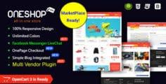 OneShop – Drag & Drop Muti-vendor & Multipurpose Responsive OpenCart 3 Theme