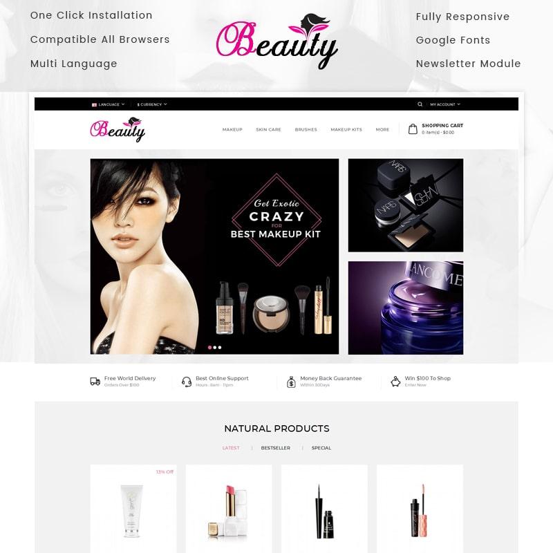OpenCart шаблон Beauty Store