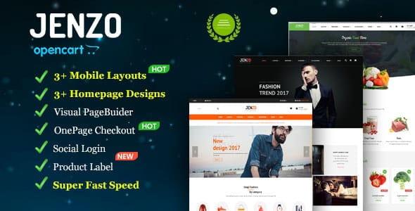 Jenzo - Drag & Drop Multipurpose OpenCart