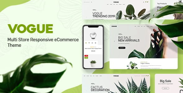 Vogue - Plant Store Opencart Theme