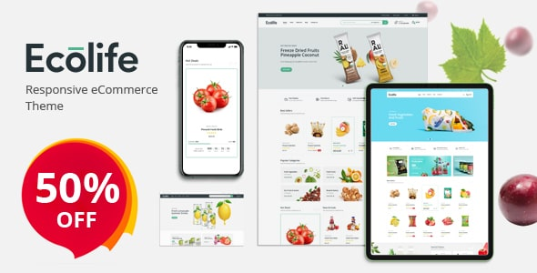 Ecolife - Organic, Food, Cosmetic & Multipurpose Opencart Theme