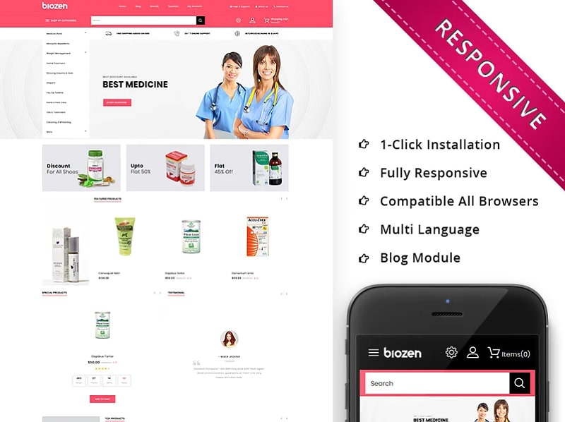 BioZen - The Medical Store Responsive