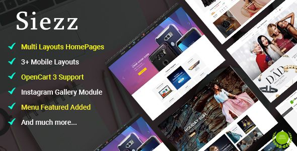 Siezz - Multi-purpose OpenCart 3 Theme