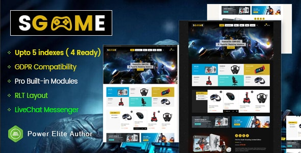 SGame - Responsive Accessories Store OpenCart Theme