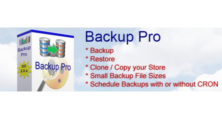 Backup Pro for Opencart 2.0