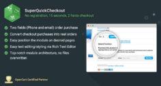 SuperQuickCheckout – 15 seconds, 2 fields checkout