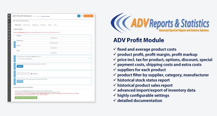 ADV Profit Module OpenCart
