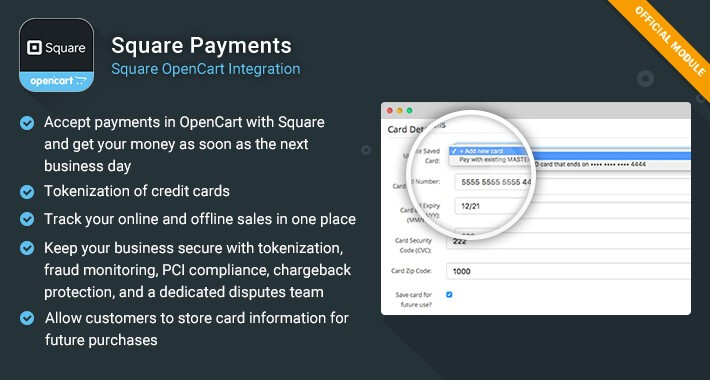 Square Payments – OpenCart Integration
