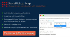StorePickup Map | Google Maps | Filter Store