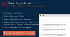 Error Pages Monitor | Redirect Manager | 404 Page (Auto Detect)