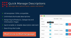 Manage Descriptions for Products, Categories, Informations, HTML
