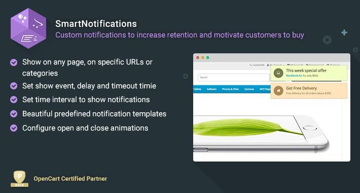 SmartNotifications - Motivate customers to buy