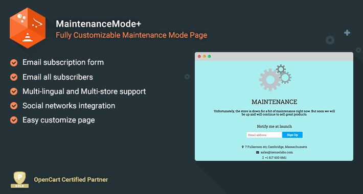 MaintenanceMode+ - Fully customizable maintenance mode page