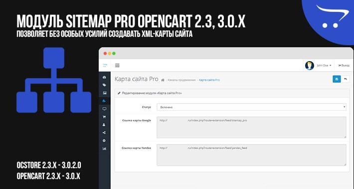 Модуль Sitemap Pro OpenCart